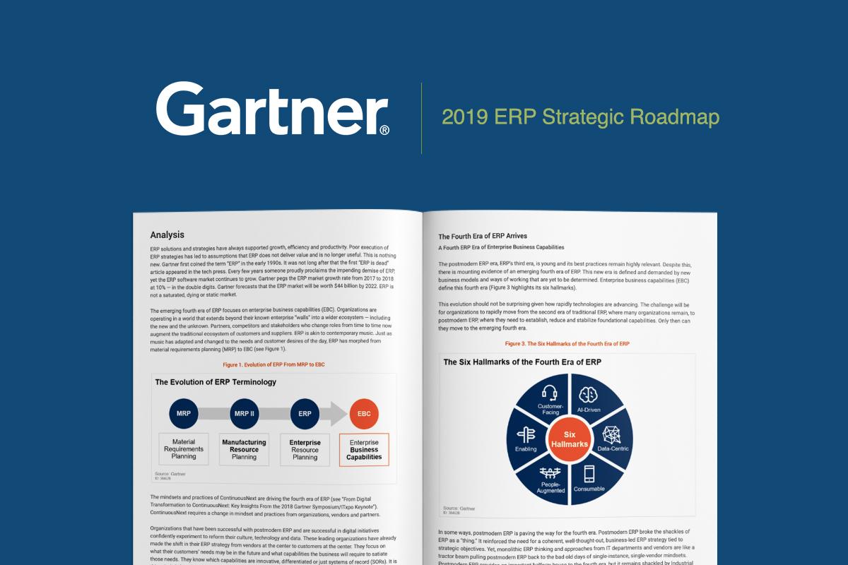 Gartner Report Provides Roadmap for Postmodern ERP - Get Your Copy